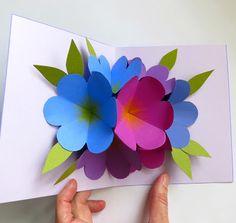 Martha Stewart pop up flower card #tutorial http://www.marthastewart.com/907176/pop-card