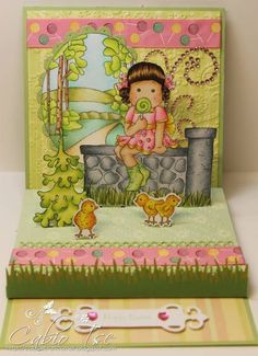Magnolia Tilda Easter 3D pop up stage card