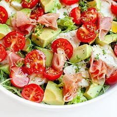 chicory citrus salad // From Hand To Mouth Caprese Salad, Pasta Salad, Cobb Salad, Ciabatta, Tasty Dishes, Mozzarella, Potato Salad, Grilling, Salads