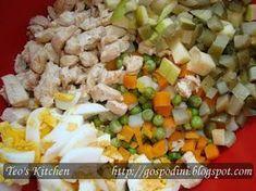 Salata ruseasca Potato Salad, Food And Drink, Potatoes, Romania, Vegetables, Cooking, Ethnic Recipes, Kitchen, Anna