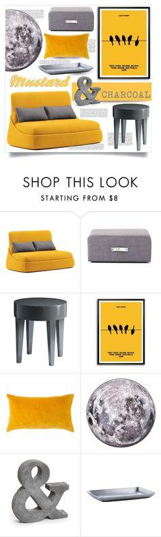 """Mustard & CHARCOAL"" by tammara-d on Polyvore featuring interior, interiors, interior design, home, home decor, interior decorating, Balmain, Coalesse, Zentique and Disney"