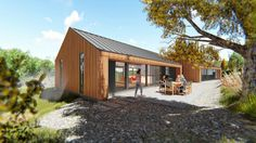 Compact House, Kit Homes, Architect Design, Beach House, Workshop, Shed, House Ideas, Outdoor Structures, House Design