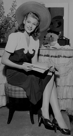 "theritahaywortharchive: """"Rita Hayworth on the set of You'll Never Get Rich, 1941 "" """