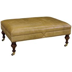 Layla Grayce Evelyn Leather Cocktail Ottoman Family room with the slate gray leather do the dimensions work? Do the wheels lock? Ottoman In Living Room, Cozy Living Rooms, Living Room Chairs, Home Living Room, Leather Cocktail Ottoman, Leather Ottoman, Ottoman Inspiration, Nelson Homes, Lee Industries