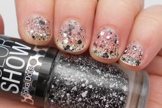 """Maybelline """"Clearly Spotted"""" black white hex glitter topper"""