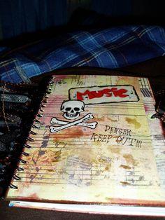 altered music journal - Scrapbook.com