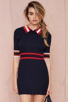 Make Varsity Ribbed Dress