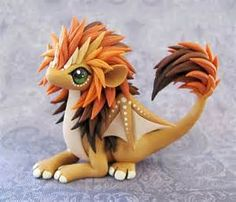 clay lion dragon
