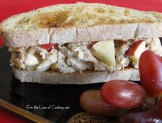 Chicken Salad Sandwich with Walnuts and Apple.This is delicious.  I also add dried cranberries.