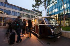 LOYA für Cellini Caffè Schweiz vor dem Primetower Zürich als Coffee-Bus für die grosse Tasting-Promoaktion am 23.10.2015.
