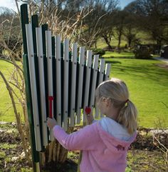Cherub playground equipment in Primary to Big Kids Park Playground, Outdoor Playground, Playground Ideas, Outdoor Learning, Outdoor Activities, Tubular Bells, Commercial Playground Equipment, Sensory Garden, Play Yard