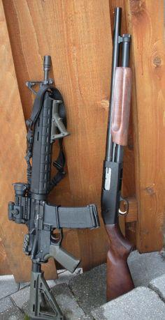 Old rifle and shotgun photo