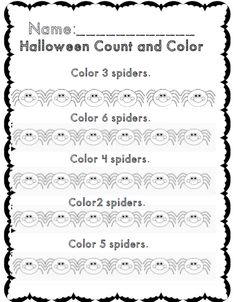 kdg halloween count and color