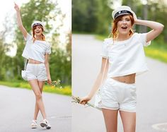 Designed By Me :) Sewn By Me And My Mom :) Top And Shorts, Swedish Student Cap Hat, Vagabond Shoes, Urban Outfitters Bag