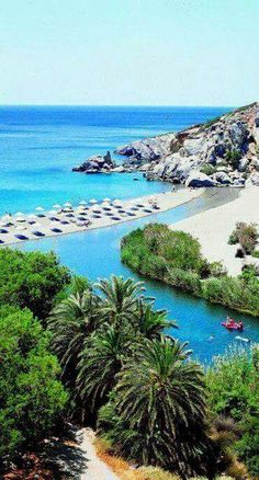 Preveli beach, Crete Island,Greece