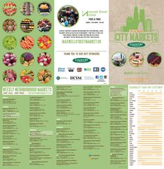 Chicago Farmers City Markets Brochure Schedule