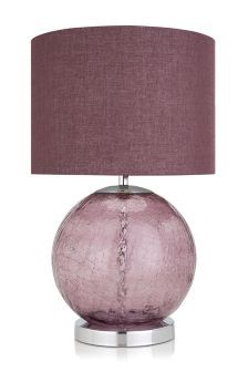 Plum Crackle Table Lamp