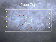 P.E. Games - Pizza Tag - YouTube...use colored pom poms or beans bags to represent toppings bc my students forget