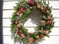 Herb lavender and rose wreath handmade from WV grapevine and