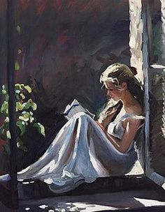 Serenity - painting of a woman reading by Sherree Valentine Daines. the-fine-art-of-reading Reading Art, Woman Reading, Reading Nooks, Art Amour, Fine Art, Beautiful Paintings, Oeuvre D'art, Female Art, Painting & Drawing