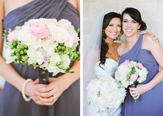 lovely bridesmaid bouquet and dress. Photo by Kelly Rucker Photography.