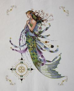 """Completed Cross Stitch 100% Hand-made Design count: 202 sts wide X 252 sts high  Fabric Size: 46cm X 55cm / Inch: """" X """"  Fabric: 14-count aida"""