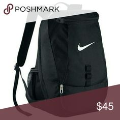 "Nike Club Swoosh Soccer Backpack water resistant bottom keeps gear dry. has a soccer ball compartment. separate shoe pocket for wet/dry storage. 19"" x 14"" x 11"". brand new & in great condition! play soccer? make it yours! -lb Nike Bags Backpacks"