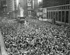VJ Day was yesterday but Tory Historian was a little busy. Celebration is, therefore, today. That is what Times Square looked like on August 14, 1945.