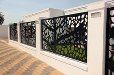 laser cut dividing screens steel bespoke pattern