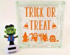 Happy Halloween Glass Block Decal Glass Blocks And Products - Halloween vinyl decals for glass blocks