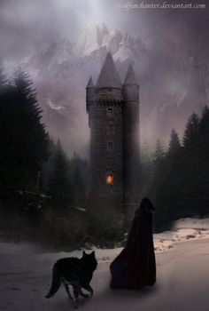 The castle lay in darkness before them