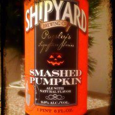 Shipyard Smashed Pumpkin, a favorite.