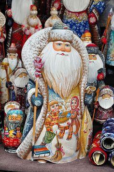 Russian Xmas Decorations Santa