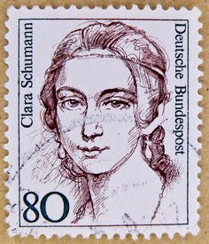 stamp Germany 80 pf Clara Schumann composer classic music postage stamps poste-timbres Allemagne sellos Alemanha selos Briefmarken Deutschland porto franco francobolli Germany postzegel by stampolina,