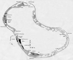 Map of Fanning island