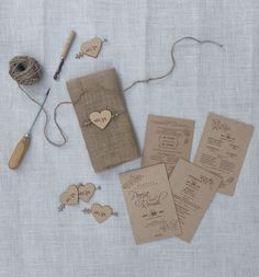 It's an exclusive collection of wedding card made with jute, wood and screen printing.