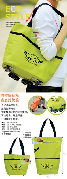 Tote bag that converts to a wheelie giant bag. Great for travel or even grocery shopping!