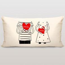 Poduszka personalizowana RYSUNKOWE LOVE idealny na urodziny