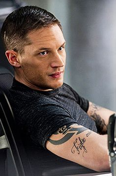 Tom Hardy....I don't care much for tattoos, but I'll take you with yours just fine!