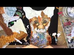 Time Lapse - Torn Painted Paper Collage -  Dawn Maciocia - YouTube