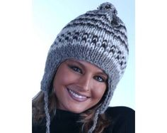 Loom-Knit Earflap Hat