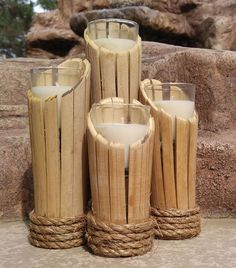 One well-known and timeless home component is the DIY bamboo handicraft. To realize the easy and unique DIY bamboo crafts that you want, one of the first steps Diy Bamboo, Bamboo Light, Bamboo Lamp, Bamboo Crafts, Bamboo Ideas, Bamboo Planter, Diy Décoration, Easy Diy, Diy Fidget Spinner