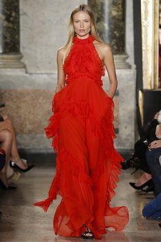 Emilio Pucci - From Peter Dundas's final collection for the Italian house, this worldly dress floats with intricate detailing.