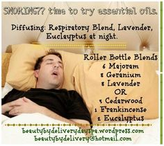 Signs That Prove Your Partner Is a Habitual Snorer Snoring? not an issue with essential oils!