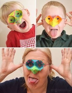 Egg-carton masks