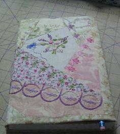 Free Crazy Quilt Pattern | International Quilting Patterns, crazy quilt journal cover - tutorial ...