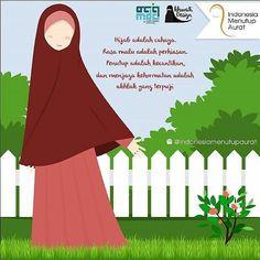 Hijab adalah cahaya  rasa malu adalah perhiasan  penutup adalah kecantikan dan menjaga kehormatan adalah akhlaq terpuji.  You are beautiful with your hijab. Believe it..! . .  Follow and Support @indonesiamenutupaurat .  Kontributor Tetap Ukhty @akhwati_design