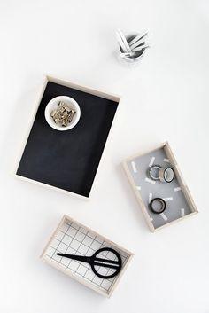 DIY-Wood Desk Organizers- Homey Oh My