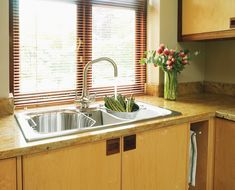 Steve's Faux Wood Blinds are resistant to fading under direct sunlight and the material will not chip, crack, or warp like real wood blinds can.