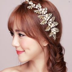 6550d343 2015 Hot Sale Vintage Gold Leaf Hair Accessories Bridal Headpieces Wedding…  Panna Młoda, Panowie